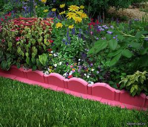 бордюры для клумб и цветников своими руками из кирпича